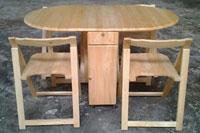Bàn ghế xếp oval